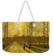 In The Golden Gloaming Weekender Tote Bag by John Atkinson Grimshaw