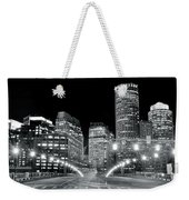 In The Heart Of A Black And White Town Weekender Tote Bag