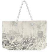 In The Land Of Iron And Steel Weekender Tote Bag