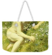 In The Meadow Weekender Tote Bag by Henry Scott Tuke
