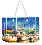 In The Port - Palette Knife Oil Painting On Canvas By Leonid Afremov Weekender Tote Bag