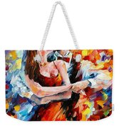 In The Rhythm Of Tango 2 - Palette Knife Oil Painting On Canvas By Leonid Afremov Weekender Tote Bag