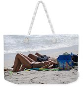 In The Sand At Paradise Beach Weekender Tote Bag