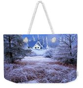 In The Snowy Forest Weekender Tote Bag