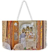 In The Temple Door Weekender Tote Bag