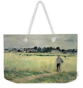 In The Wheatfield At Gennevilliers Weekender Tote Bag by Berthe Morisot