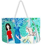 In The White Lady's Cave Weekender Tote Bag by Sushila Burgess