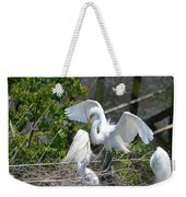 In The Wild White Snowy Egrets Photography ....photo A Weekender Tote Bag