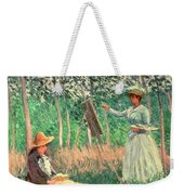 In The Woods At Giverny Weekender Tote Bag