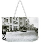 In This 1913 Photo, A Cable Car Drives Past The Littlefield Building And Dristill Hotel On Sixth Str Weekender Tote Bag