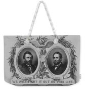 In Union Is Strength - Ulysses S. Grant And Schuyler Colfax Weekender Tote Bag