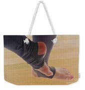 In Warm Up Tights Relaxed Position Weekender Tote Bag