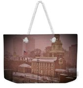 Independence Hall In The Snow Weekender Tote Bag