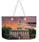 Independence Hall Philadelphia Sunset Weekender Tote Bag