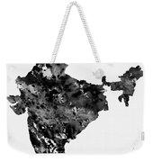 Map Of India-black Weekender Tote Bag