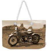 Indian 4 Sidecar Weekender Tote Bag