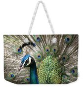 Indian Blue Peacock Puohokamoa Weekender Tote Bag