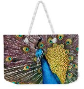 Indian Blue Peacock Weekender Tote Bag
