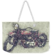 Indian Chief 1 - 1922 - Vintage Motorcycle Poster - Automotive Art Weekender Tote Bag