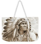Indian Chief With Headdress Weekender Tote Bag