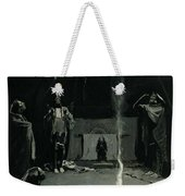 Indian Fire God -the Going Of The Medicine Horse Weekender Tote Bag