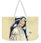 Indian Girl Weekender Tote Bag