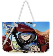 Indian Moto Blue Sky 81116 Weekender Tote Bag