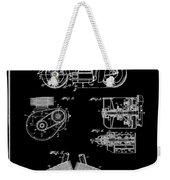 Indian Motorcycle Patent 1943 Black Weekender Tote Bag
