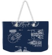 Indian Motorcycle Patent 1943 Blue Weekender Tote Bag