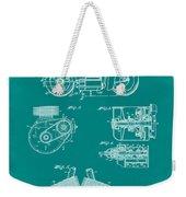 Indian Motorcycle Patent 1943 Green Weekender Tote Bag