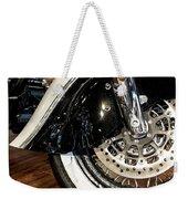 Indian Motorcycle Wheel Weekender Tote Bag