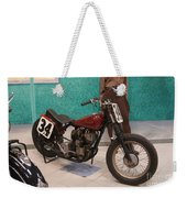Indian Racing Motorcycle 34 Weekender Tote Bag