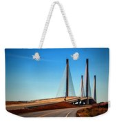 Indian River Bridge North Approach Weekender Tote Bag by Bill Swartwout Photography