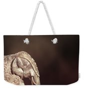 Indian Silver Elephant Weekender Tote Bag