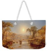 Indian Summer On The Delaware River Weekender Tote Bag