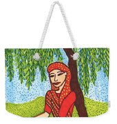 Indian Woman With Weeping Willow Weekender Tote Bag
