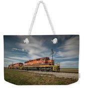 Indiana Southern Railroad Locomotives At Edwardsport Indina Weekender Tote Bag