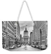 Indiana State Capitol Building Weekender Tote Bag by Howard Salmon