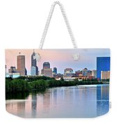 Indianapolis At Dusk Weekender Tote Bag