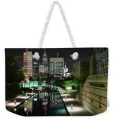 Indianapolis Canal Night View Weekender Tote Bag