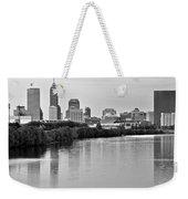 Indianapolis Charcoal Panoramic Weekender Tote Bag