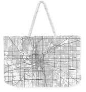 Indianapolis Indiana Usa Light Map Weekender Tote Bag