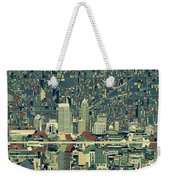 Indianapolis Skyline Abstract 3 Weekender Tote Bag