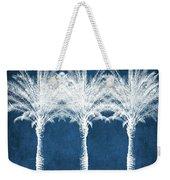 Indigo And White Palm Trees- Art By Linda Woods Weekender Tote Bag