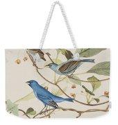 Indigo Bird Weekender Tote Bag