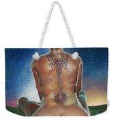Indigo Blue Weekender Tote Bag by Baroquen Krafts