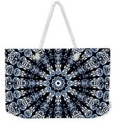 Indigo Flow Blue Kaleidoscope Weekender Tote Bag
