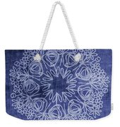 Indigo Mandala 1- Art By Linda Woods Weekender Tote Bag