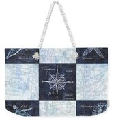 Indigo Nautical Collage Weekender Tote Bag
