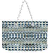 Indigo Ocean - Caribbean Tile Inspired Watercolor Swirl Pattern Weekender Tote Bag
